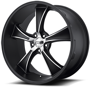 American Racing Custom Wheels VN805 Blvd 5 Satin Black w/ Machined Face