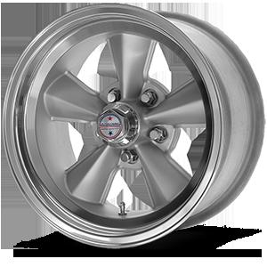 American Racing Custom Wheels VNT70R 5 Gunmetal w/ Polished Lip