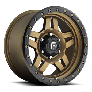 Anza - D583 Matte Bronze w/ Black Ring 6 lug