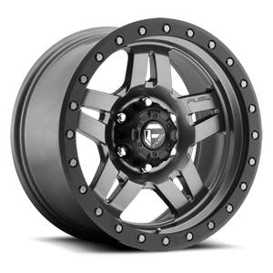 Anza - D558 Matte Anthracite w/ Black Ring 6 lug