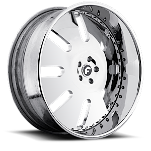 Forgiato ARESTO 5 Chrome Center, Chrome Lip