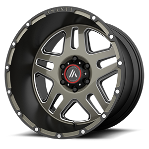 Asanti Off-Road AB809 6 Matte Black Machined w/ Milled Tinted Clear