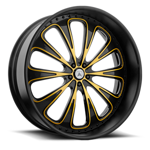 Asanti Forged Wheels A/F Series AF867 5 Gloss Black with Yellow Accents