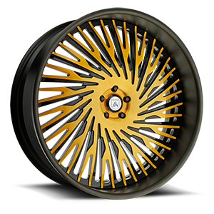 Asanti Forged Wheels A/F Series AF869 5 Yellow and Black