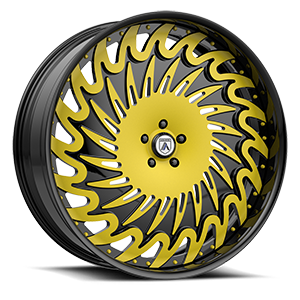 Asanti Forged Wheels FS Series FS15 5 Black and Yellow