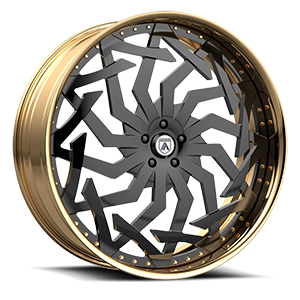 Asanti Forged Wheels FS Series FS20 5 Black and Gold