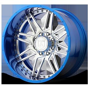 Asanti Off-Road AB201 8 Chrome and Blue