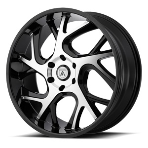 Asanti Black Label ABL-16 6 Gloss Black Machined