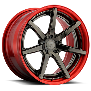 Asanti Forged Wheels TL Series TL100 5 Machined Red w/ Gloss Bronze Face