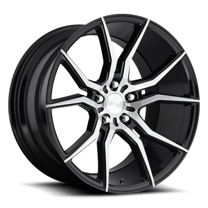 Niche Sport Series Ascari - M166 5 Gloss Black & Brushed 20x10.5
