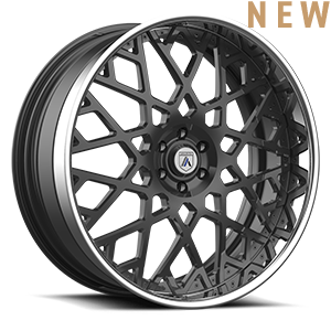 Asanti Forged Wheels A/F Series AF890 6 Gunmetal w/ Chrome Lip