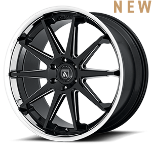 ABL-29 Gloss Black Milled w/ Chrome Lip 6 lug