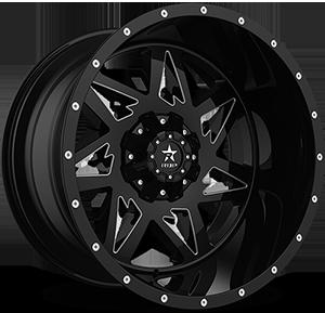 RBP Wheels 71R Avenger 8 Black & Machined