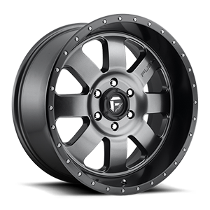 Baja - D628 Anthracite with Black Lip 6 lug