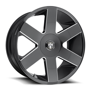 DUB 1-Piece Baller 6 - S233 6 Gloss Black & Milled