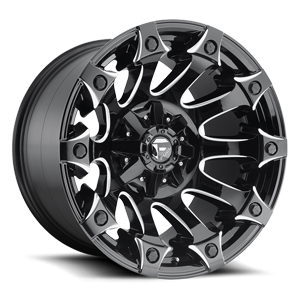 Battle Axe - D578 Gloss Black & Milled 5 lug