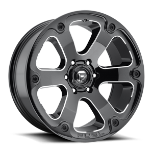 Beast - D562 Black & Milled 6 lug