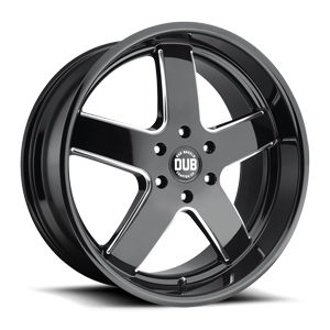 DUB 1-Piece Big Baller - S223 6 Gloss Black & Milled