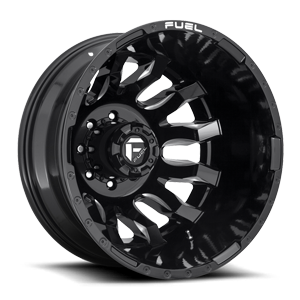 Fuel Dually Wheels Blitz Dually Rear - D673 8 Gloss Black & Milled