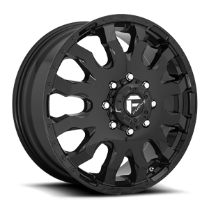 Fuel Dually Wheels Blitz Dually Front - D675 8 Gloss Black