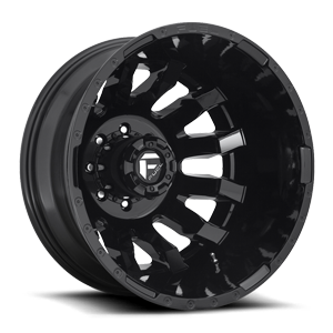 Fuel Dually Wheels Blitz Dually Rear - D675 8 Gloss Black