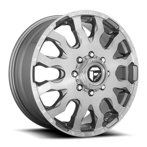 Fuel Dually Wheels Blitz Dually Front - D693 8 Platinum