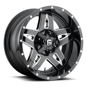 Fuel 1-Piece Wheels Full Blown - D554 5 Gloss Black & Milled
