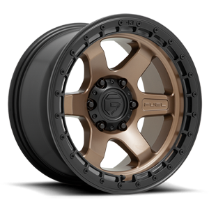 BLOCK - D751 Matte Bronze with Black Ring 6 lug