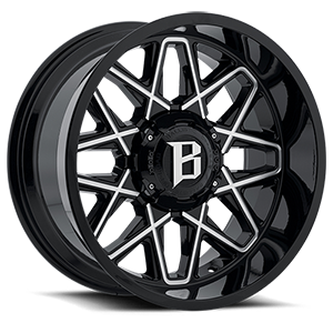 Ballistic Off Road 818 6 Gloss Black Milled