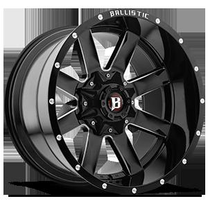 Ballistic Off Road 959 Rage 8 Gloss Black w/ Milled Windows