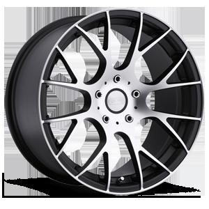 Concept One Wheels C - 8 5 Matte Black with Gloss Black Lip