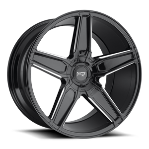Niche Sport Series Cannes - M180 5 Gloss Black & Milled 20x10.5