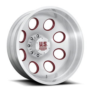 Champ Dually Rear- Forged HD Brushed Clear w/ Ruby Red Accents 8 lug