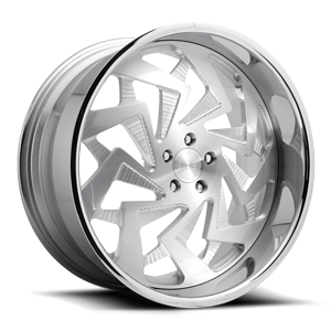 Chop - X122 Brushed w/ Polished Lip 5 lug