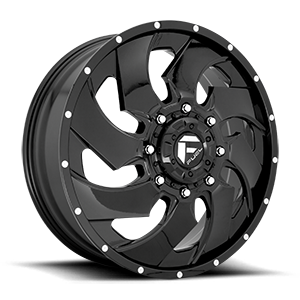 Fuel Dually Wheels Cleaver Dually Front - D239 8 Gloss Black
