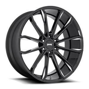 DUB 1-Piece Clout - S252 6 Gloss Black & Milled