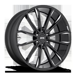 Clout - S252 Gloss Black & Milled 6 lug