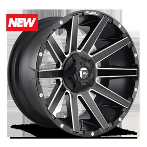Fuel 1-Piece Wheels Contra - D616 5 Matte Black & Milled
