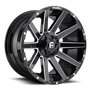 Fuel 1-Piece Wheels Contra - D615 5 Gloss Black & Milled
