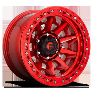 Fuel 1-Piece Wheels Covert Beadlock - D113 6 Candy Red