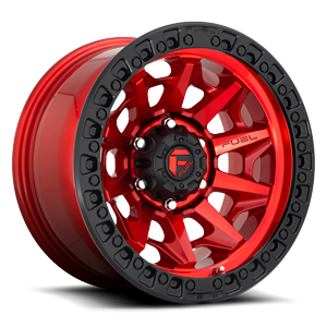 Fuel 1-Piece Wheels Covert - D695 5 Candy Red w/ Black Ring