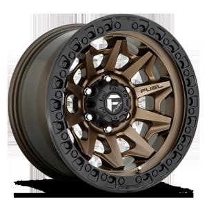 Fuel 1-Piece Wheels Covert - D696 6 Bronze w/ Black Lip