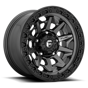 Fuel 1-Piece Wheels Covert - D716 5 Matte Anthracite w/ Black Ring