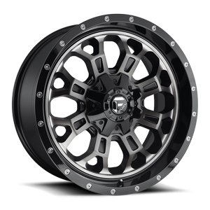Crush - D561 Gloss Black Double Dark Tint 5 lug
