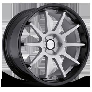 Concept One Wheels CS - 10.0 5 Grey With Black Lip
