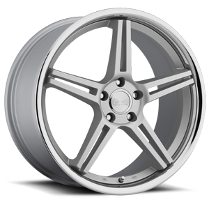 Concept One Wheels CS - 5.0 5 Silver with Machine Cut Face