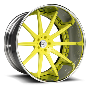 Asanti Forged Wheels C/X Series CX501 5 Yellow