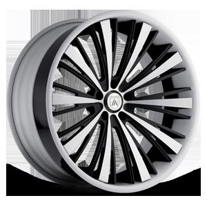 Asanti Forged Wheels C/X Series CX510 5 Black And White