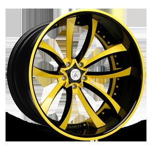Asanti Forged Wheels C/X Series CX503 5 Black And Yellow