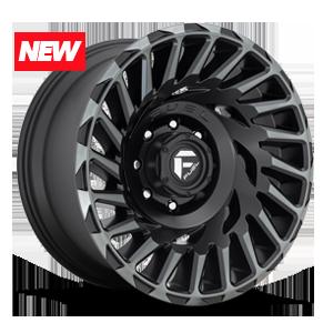 Fuel 1-Piece Wheels Cyclone - D683 5 Matte Black/Machined/DDT